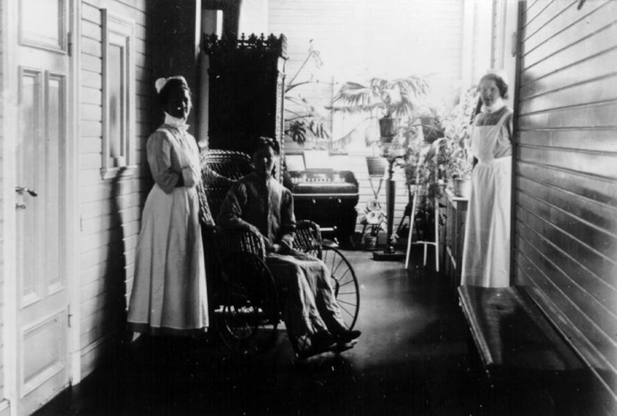 Robertsfors första sjukstuga - interiör